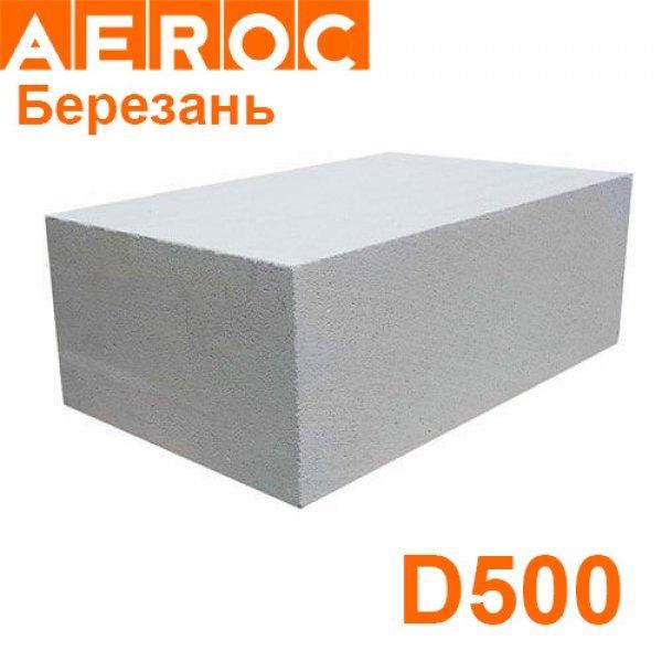 Газоблок Aeroc 300х200х610 D500 Березань Гладкий
