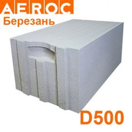 Газоблок Aeroc 300х200х610 D500 Березань Паз-гребень