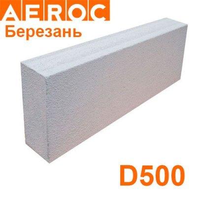 Газобетон Aeroc 75х200х610 D500 Березань Перегородочный