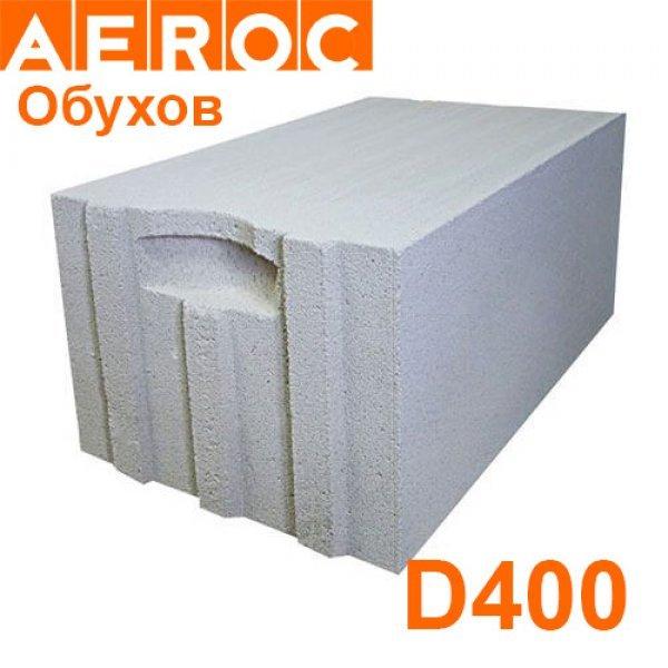Газоблок Aeroc 400х200х610 D400 Обухов Паз-гребень