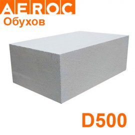 Газоблок Aeroc 400х200х610 D500 Обухов Стеновой