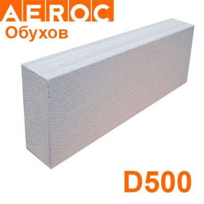 Газоблок Aeroc 100х200х610 D500 Обухов Перегородочный