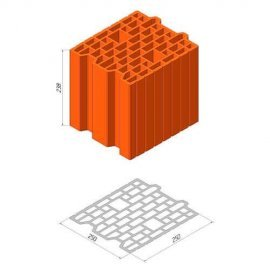 Керамический блок Керамейя ТеплоКерам 25 ЕКО