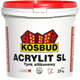 KOSBUD ACRYLIT-SL Штукатурка силиконовая, короед, база, 25 кг