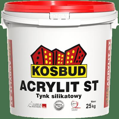 KOSBUD ACRYLIT-SТ Штукатурка силикатная, барашек, база, 25 кг