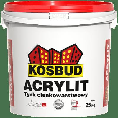 KOSBUD ACRYLIT Штукатурка акриловая, короед, база, 25 кг