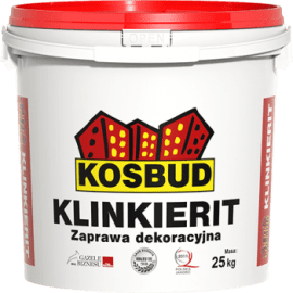 KOSBUD ACRYLIT Штукатурка силиконовая KLINKIERIT (имитация кирпича), 12,5 кг