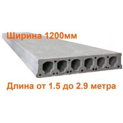 Плиты перекрытия Безопалубного формования длиной 1.5-2.9 метра (ширина 1200мм) (ЖЗЗБВ)