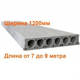 Плиты перекрытия Безопалубного формования длиной 7-9 метра (ширина 1200мм) (ЖЗЗБВ)
