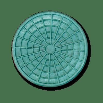 """Люк полимерпесчаный тип """"Л"""" 315, под трубу (зеленый) 30294-12"""
