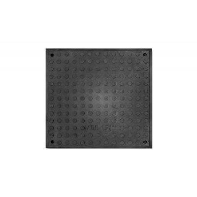 Люк полимерпесчаный Л, черный 1,5 т (А15 легкий) квадратный 30496-30