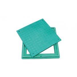 Люк полимерпесчаный Л, зеленый 1,5 т (А15 легкий) квадратный 30496-32