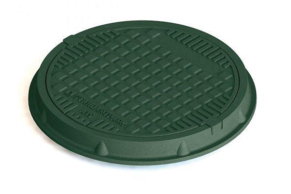 Люк легкий полимерпесчаный кл. А зеленый 30298-32