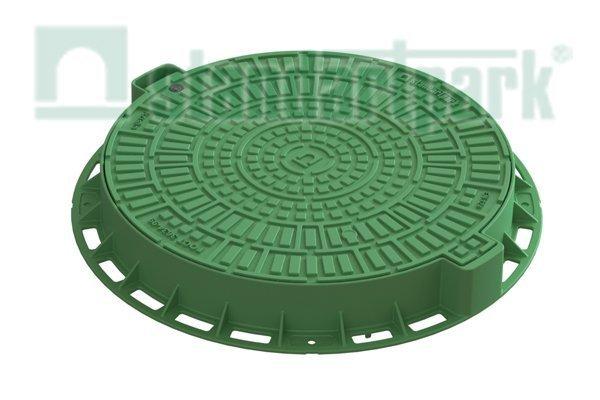 Люк Л-60.80.10-ПП пластиковый зеленый «Лого» 35188-82Л