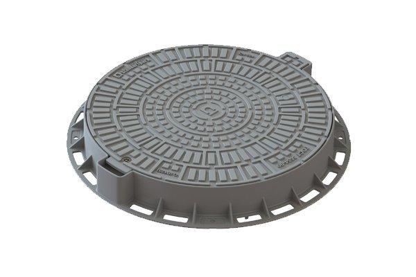 Люк Л-60.80.10-ПП пластиковый серый «Лого» 35188-84Л
