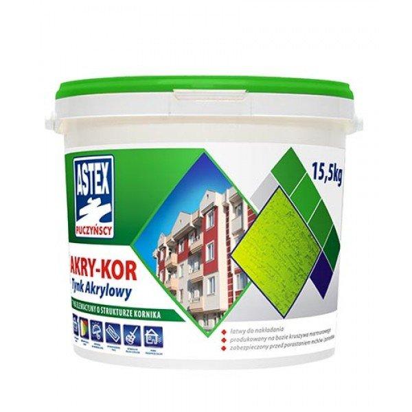 Astex AKRY-KOR штукатурка акриловая  15,5 кг