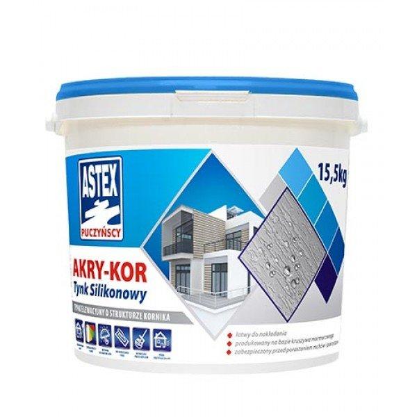 Astex AKRY-KOR штукатурка силиконовая 18кг