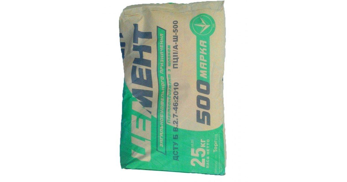 мешок цемента 25 кг объем