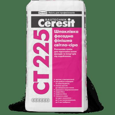 Ceresit CT 225 Шпаклевка фасадная финишная (светло-серая)