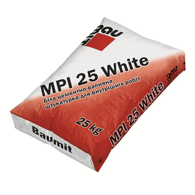 Baumit MPI 25 WHITE Штукатурка 25кг
