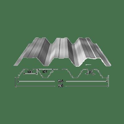 Профнастил Н-92 - несущий, для крыш и опалубки