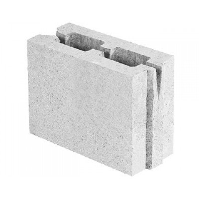 Блок керамзитобетонный перегородочный (249x188x115)