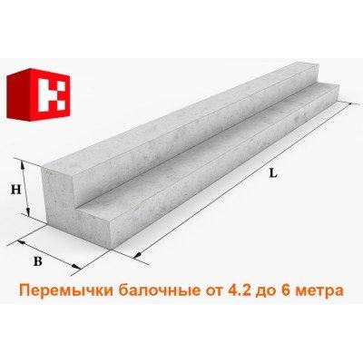 Перемычки балочные длиной 4.2-6 метра