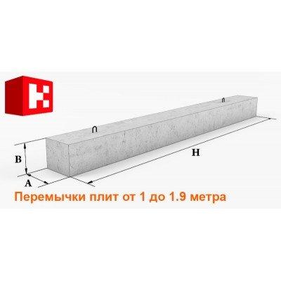 Перемычки плитные длиной 1-1.9 метра