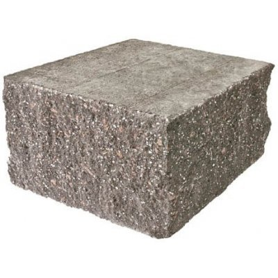 Колотый блок Серый