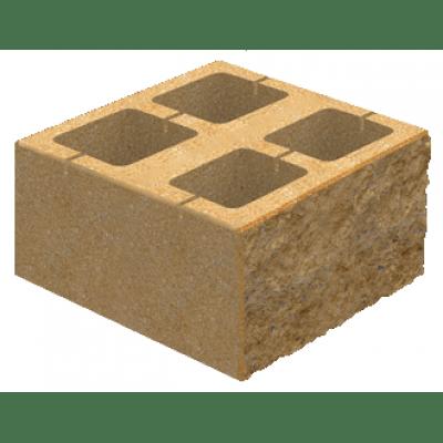 Блок Декоративный для Столба Золотой мандарин Цветной (400х400х150)