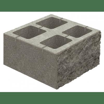 Блок Декоративный для Столба Золотой мандарин Серый (400х400х150)
