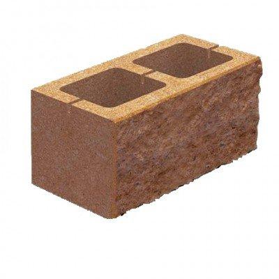 Колотый блок Золотой мандарин Цветной (Двухсторонний скол) (400х200х150)