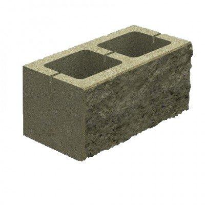 Колотый блок Золотой мандарин Серый (Двухсторонний скол) (400х200х150)