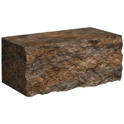 Колотый камень для столбиков Золотой мандарин Микс (300х100х150)