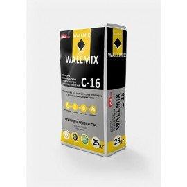 WALLMIX C-16 Штукатурка цементно-известковая для газоблока для машинного нанесения 25кг